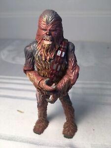 Star Wars Galactic Heroes Chewbacca wookie Action Figure Hasbro 2004 free shipin
