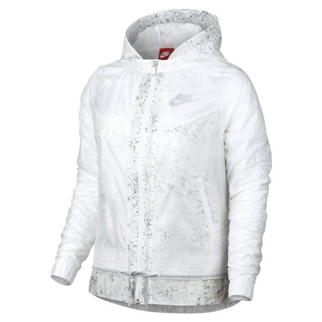 5e3fd5c27108 Nike Women s White Windrunner Splatter Running Jacket Size Large