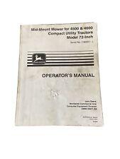 John Deere 45004600 Tractor 72 Inch Mower Deck Omm136071 Operators Manual Book