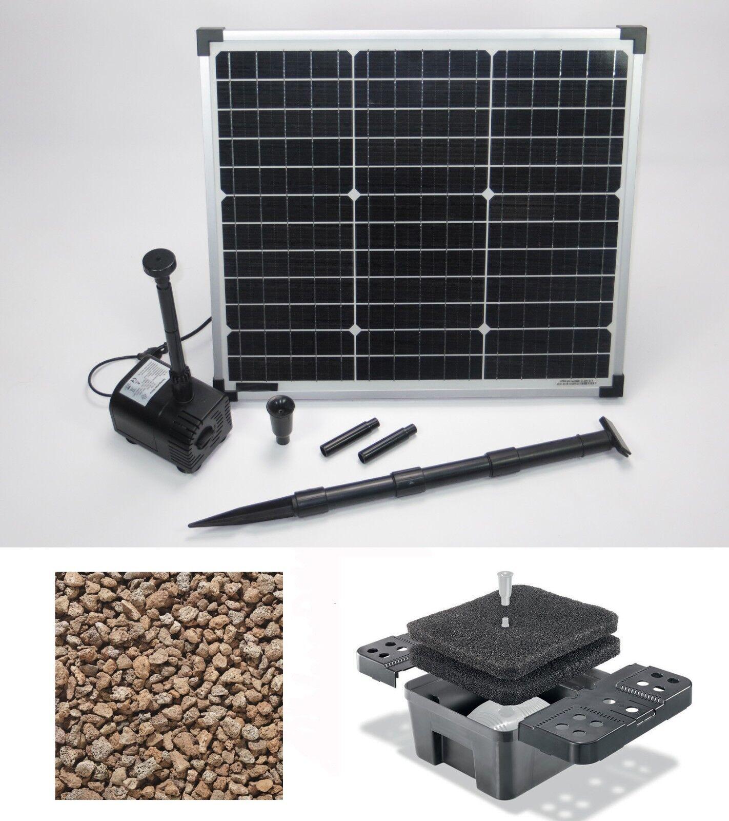 30w SOLARE POMPA PER LAGHETTO FILTRO Pompa Solare Pompa per laghetto giardino Bach CORSA POMPA per laghetto NUOVA