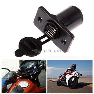 12V Dual USB Car Motorcycle Cigarette Lighter Socket Power Adapter Plug Outlet