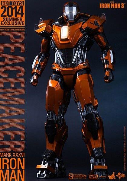 = Menta en caja = 1 6 Hot Juguetes Iron Man Mark 36 Mk XXXVI pacificador 2014 exclusivo MMS258