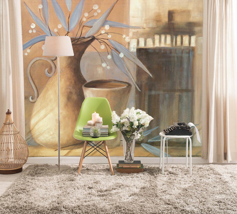 3D Vase Fowers 778 Wallpaper Mural Paper Wall Print Wallpaper Murals UK Lemon