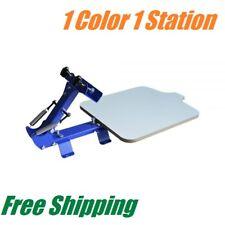 3db2342e Free shipping. 1 Color 1 Station T-Shirt Silk Screen Printing Machine  Printing Press Equipment