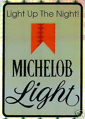 Michelob Light Beer Label Sticker LOT NEW