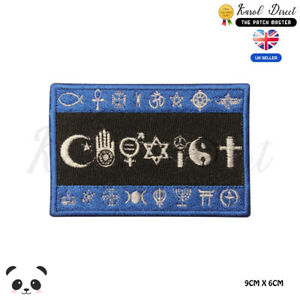 COEXIST-Flag-Symbol-Logo-Embroidered-Iron-On-Sew-On-Patch-Badge-For-Clothes-etc