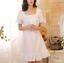 Retro-Womens-Pajama-Square-Neck-Short-Dress-Cotton-Lolita-Sleepwear-Nightgown thumbnail 1