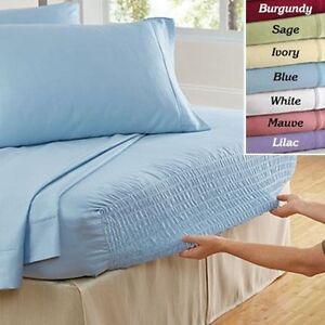 Bed Tite Deep Pocket Stretch Fit Sheet Set 100 Cotton