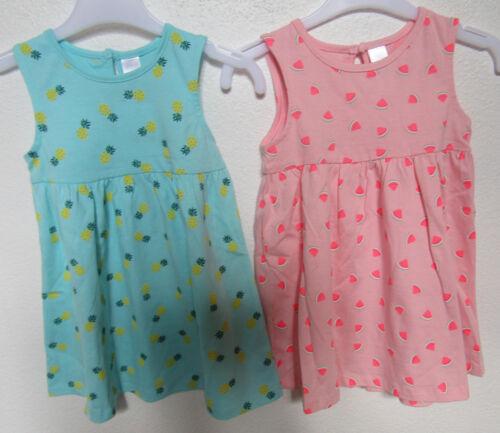 2 Stück Baby Mädchen Kleidchen Kleid  BIO Baumwolle Hängerchen  NEU