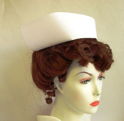 AUTHENTIC NURSE CAP OLD FASHION WHITE VINTAGE COSTUME HAT SMALL PETITE CHILD