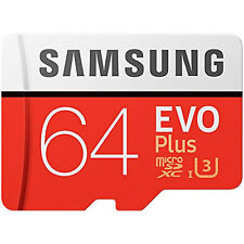 Samsung 64GB Evo Plus Micro SD TF Memory Card SDXC Adapter 100MB/s New UK