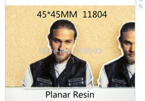 pack of 5 Sons of Anarchy Charlie Hunnam Planar Resin flatback 45mm x 45mm