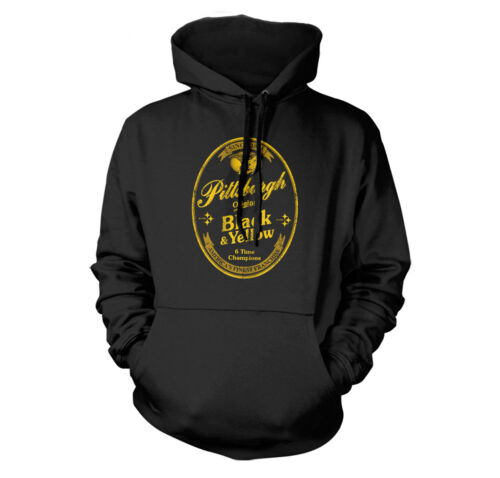 BLACK AND YELLOW BEER LABEL PITTSBURGH FAN CHAMPS YUENGLING PARODY HOODIE