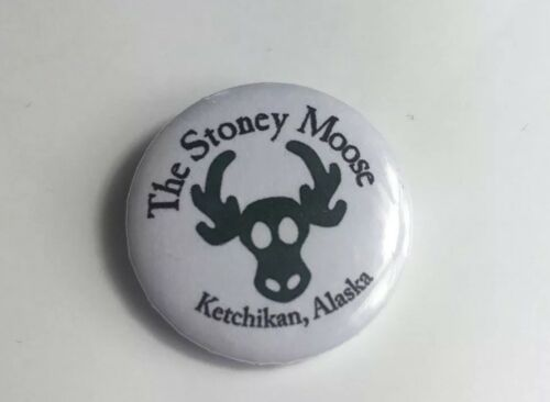 "Weed Collectors 420 Retro Novelty Stoney Moose  25mm// 1"" Pin Badge"