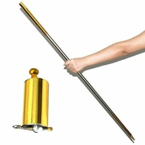 Flexible Magic Pocket Staff Portable Steel Metal Outdoor Sport Magical Wand Gold