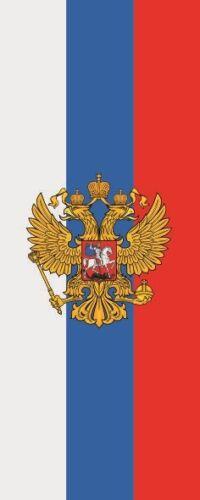 Fahne Flagge Russland mit Adler im Hochformat verschiedene Größen