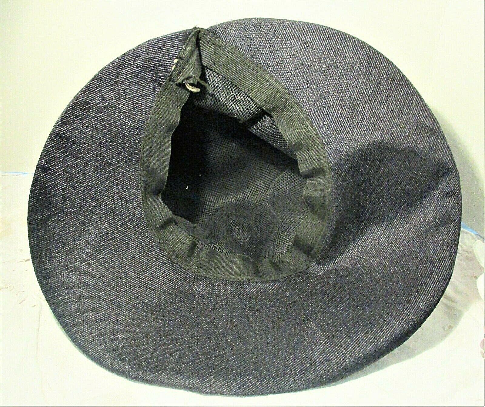 Vintage 1930s Navy Blue Wide Brim Hat With Grosgr… - image 6