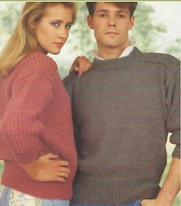 Chunky-Sweater-with-Patch-Shoulders-and-Sleeves-Knitting-Pattern-34-50-034-1008