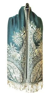Pashmina-Shawls-Scarf-Wrap-NEW-Paisley-Silky-Soft-Beautifully-Crafted-Long