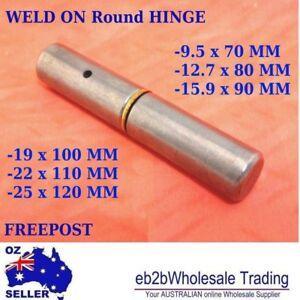 WELD-ON-Round-HINGE-DOOR-TRAILER-TAILGATE-UTE-BOX-cabinet-Brass-washer-Welding
