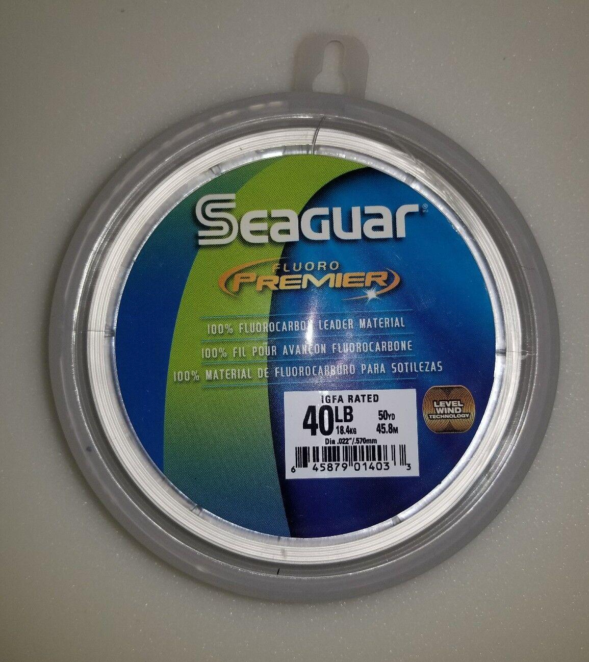 Seaguar Premier Flugoldcarbon Leader  40lb  50yards