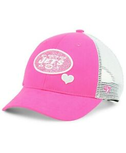 30e8f7b6 Details about '47 GIRLS CHILD NEW YORK JETS SUGAR SWEET GLITTER PINK MESH  ADJUSTABLE HAT