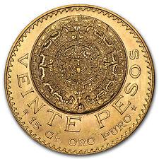 Mexican 20 Pesos Gold Coin - Random Year Coin - SKU #1044