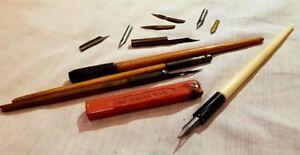 John Heath's, Brev, Dip Pens, Selection Of Nibs, Joseph Gillott's, Sealing Wax