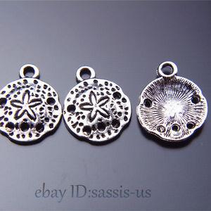 100Piece-16mm-charms-Tibetan-Silver-jellyfish-Pendant-sand-dollars-Jewelry-A7522