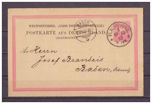 Deutsches-Reich-Ganzsache-P-8-II-02-K-1Plauen-nach-Baden-Schweiz-1882