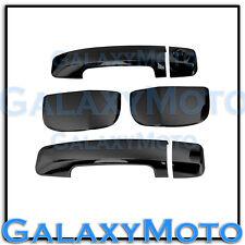 07-13 TOYOTA TUNDRA DOUBLE CAB Black Chrome 4 Door Handle no PSG Keyhole Cover