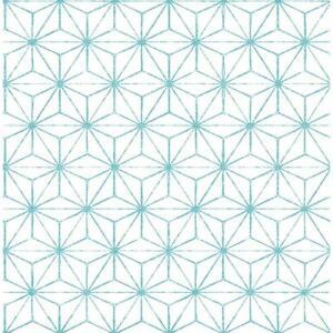 Wallpaper-Designer-Turquoise-Modern-Retro-Orion-Geometric-on-White