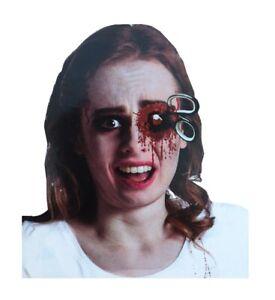 Applikation Blutige Schere zum Ankleben und Kunstblut Halloween Horror Wunde