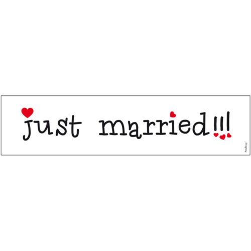 """Hochzeit Kennzeichen /""""Just Married/"""" Nummernschild Autodekoration Autokennzeichen"""