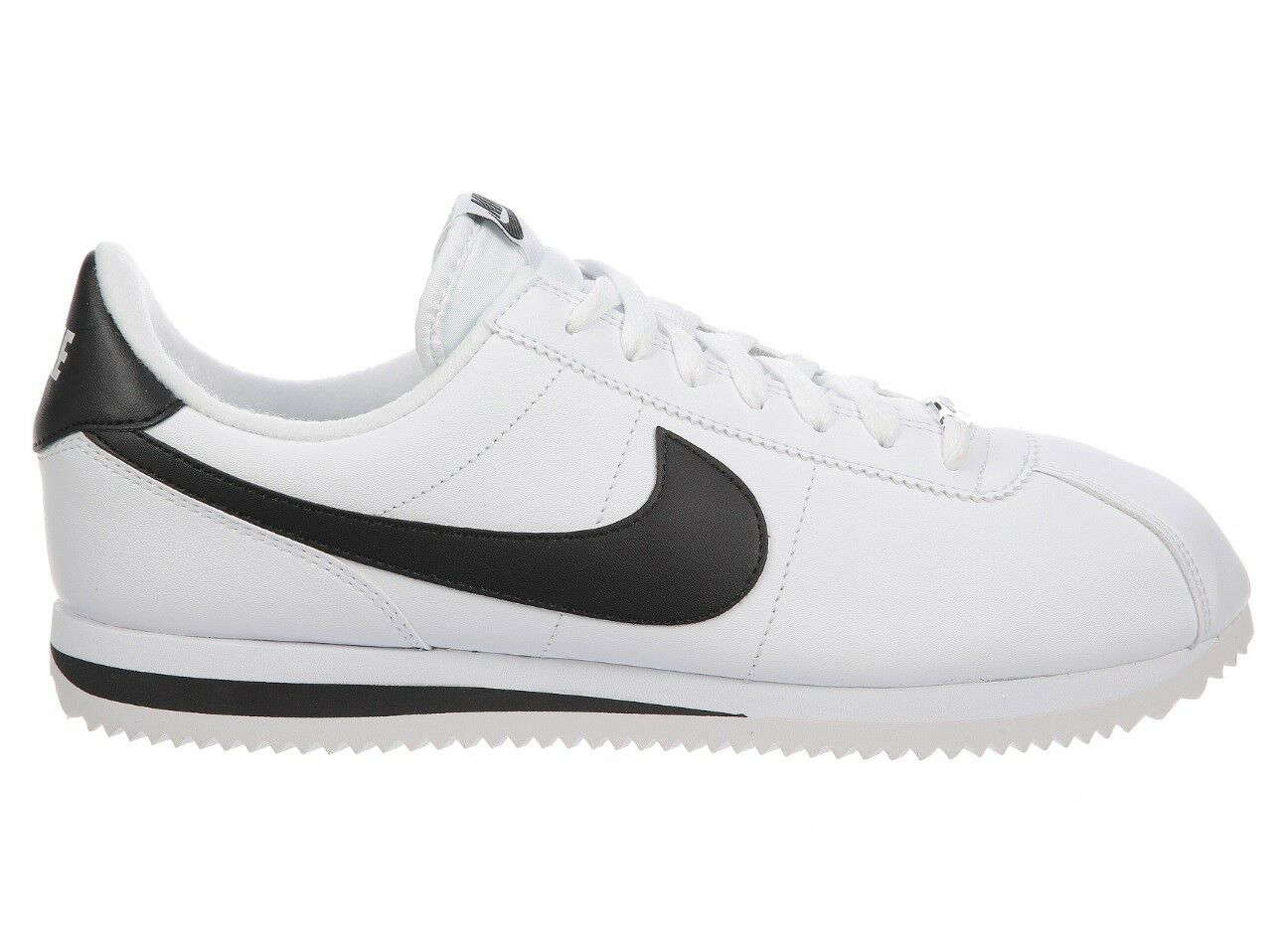 Nike Cortez Basic Leather Mens 819719-100 White Black Running Shoes Comfortable Cheap women's shoes women's shoes Wild casual shoes