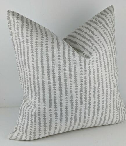 "John Lewis Xander Fabric Cushion Cover 16/""x16/"" Grey White Smoke Triangles"