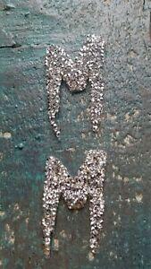 Patch Schleife Bow mit Strasssteinen schwarz silbern Applikation Bügelbild