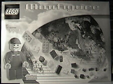 "LEGO 3723 19"" Mini-Figure w/Box, ORIGINAL UNUSED Sticker Sheet and Instructions"