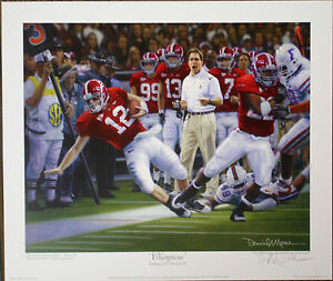 Alabama football champions signed art print by daniel Alabama sec championship shirt