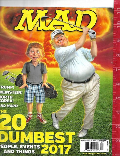 1996 549 Mad magazine Trump! Weinstein! North Korea! on cover