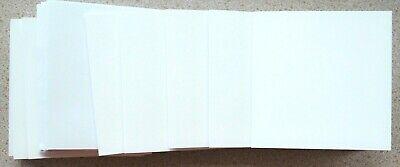 10 x A6 Smooth White Single Fold Card Blanks /& White Envelopes NEW