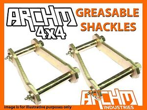 TOYOTA LANDCRUISER 76 SERIES V8 2009-ON ARCHM4X4 REAR GREASABLE SHACKLES