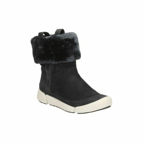 Clarks Fur Size 6 New Uk Faux Tri Attract 5d Navy Boots 1WRdfq