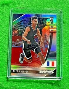 THEO-MALEDON-SILVER-PRIZM-ROOKIE-CARD-JERSEY-11-FRANCE-RC-THUNDER-2020-PANINI