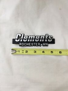 Car Dealerships In Rochester Mn >> Details About Clements Rochester Mn Vintage Car Dealer Plastic Emblem Badge Plate Logo