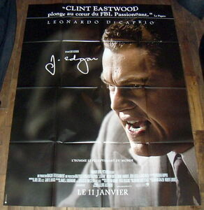 Details about J  EDGAR Hoover Clint Eastwood Leonardo DiCaprio LARGE French  POSTER