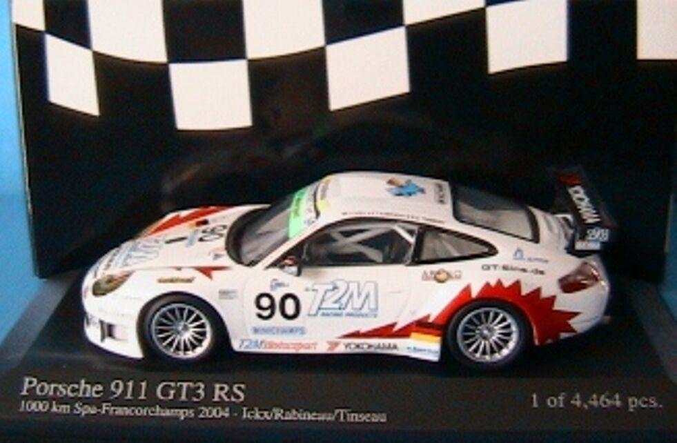a la venta PORSCHE 911 911 911 GT3 RS  90 T2M 1000 KM SPA 2004 ICKX RABINEAU TINSEAU MINICHAMPS 400  Centro comercial profesional integrado en línea.