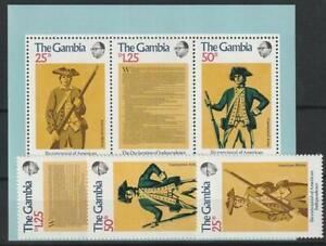 Gambie De 1976 ** Cachet Minr. 326-358 Bloc 1 200 J. Indépendant. Usa-afficher Le Titre D'origine