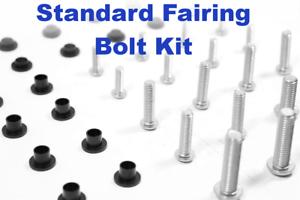 Complete Black Fairing Bolt Kit body screws for Suzuki Katana GSX 600F 2002