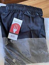 New Black Elastic Waist Chefs Pants Size 3xl Pants Xxxl